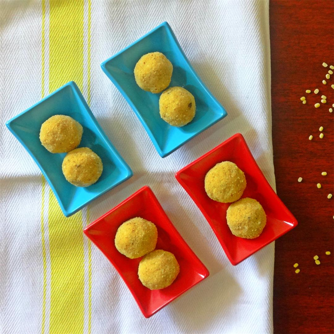 Moong Dal Ladoo, An authentic Indian Sweet.