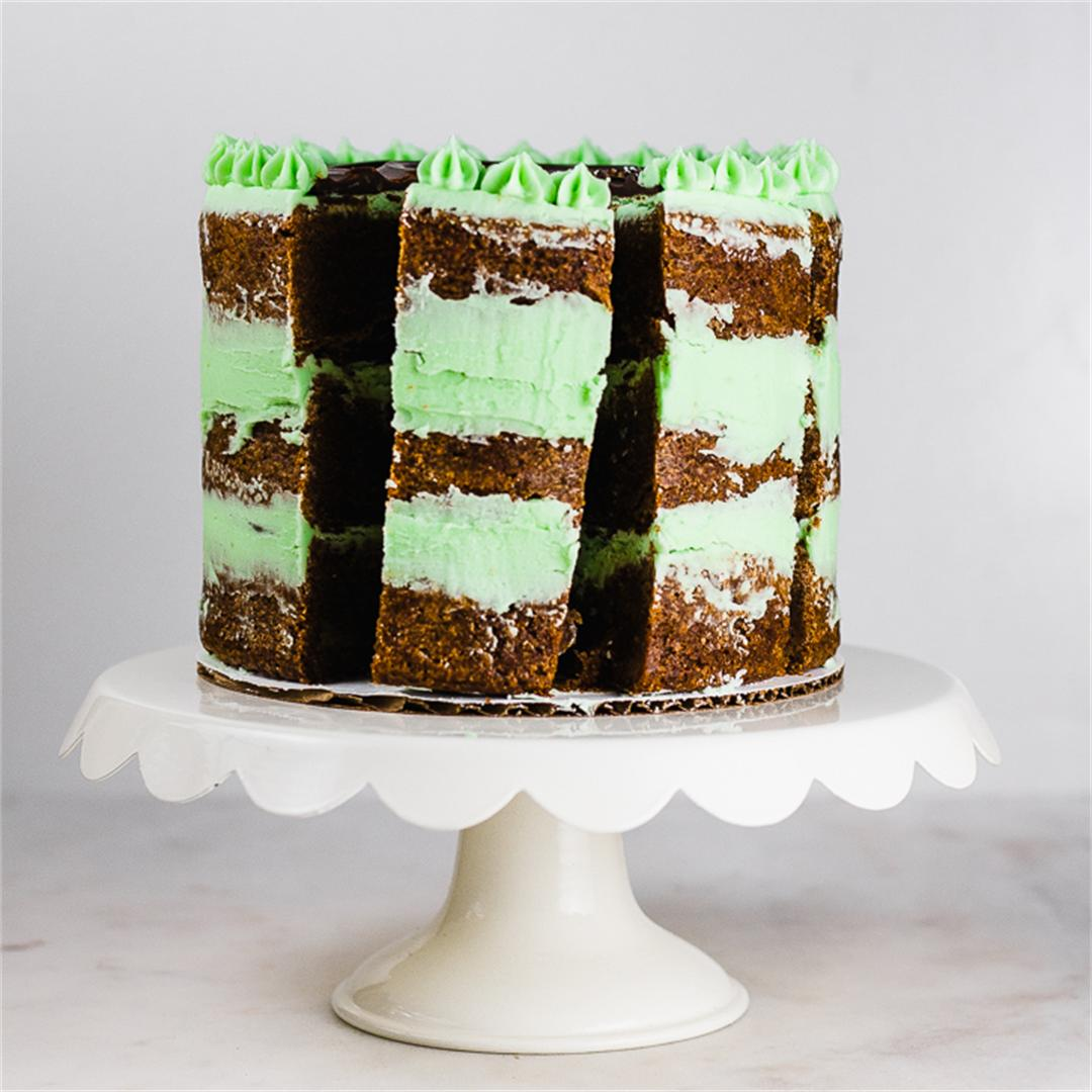 Mom's Chocolate Mint Brownie Cake