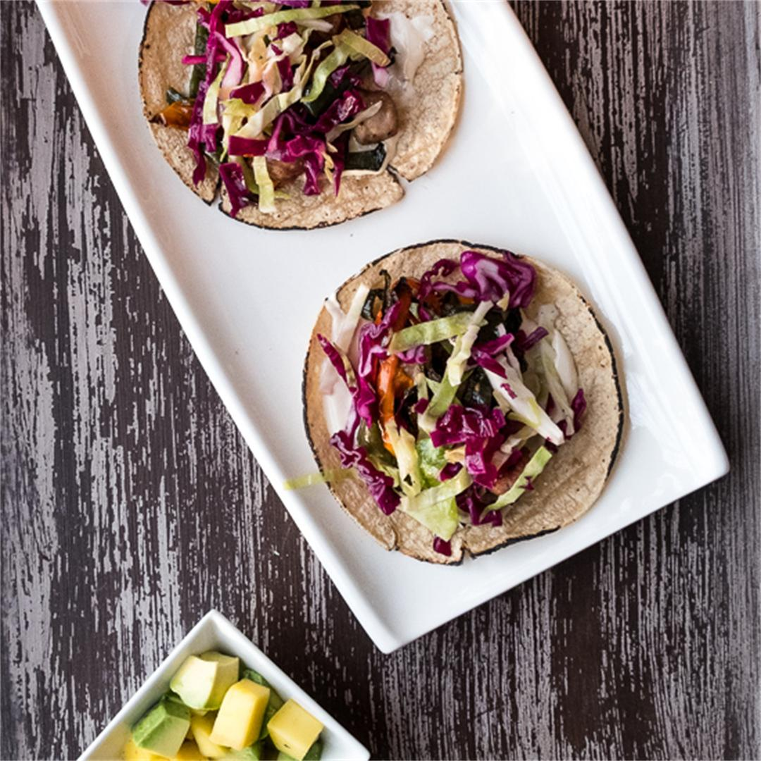 Bratwurst Sausage and Peppers Tacos