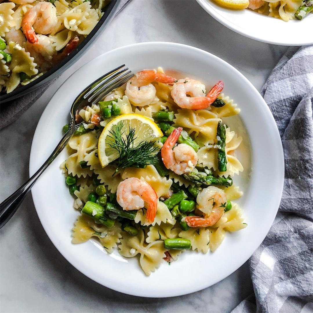 Shrimp and Spring Vegetable Pasta