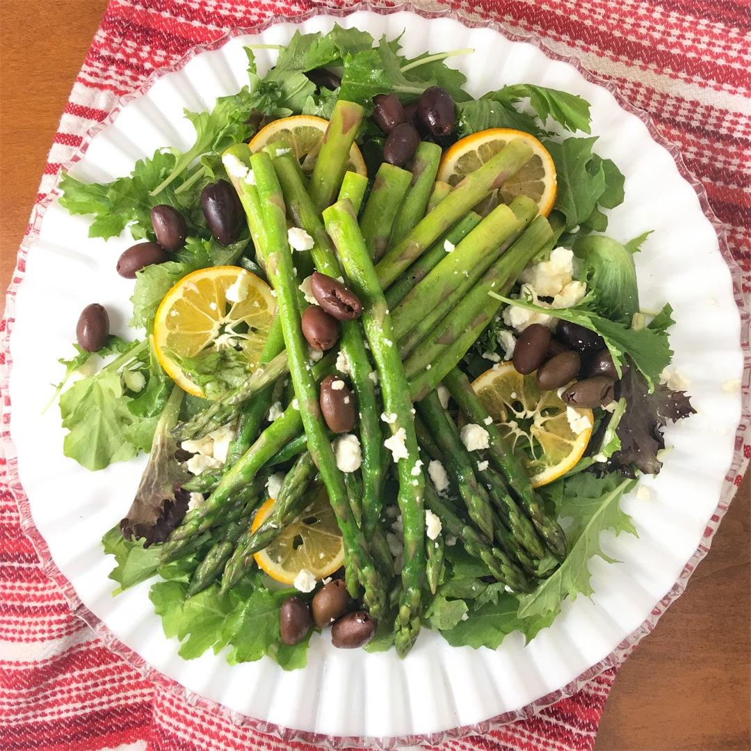 Rich Lemon Citronette Tossed with Chilled Asparagus