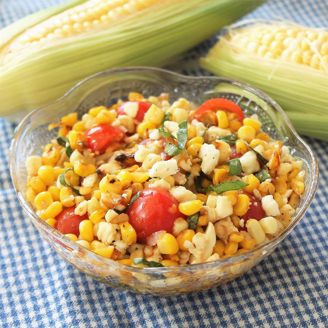 Grilled Corn and Feta Salad:  Fresh and tasty!