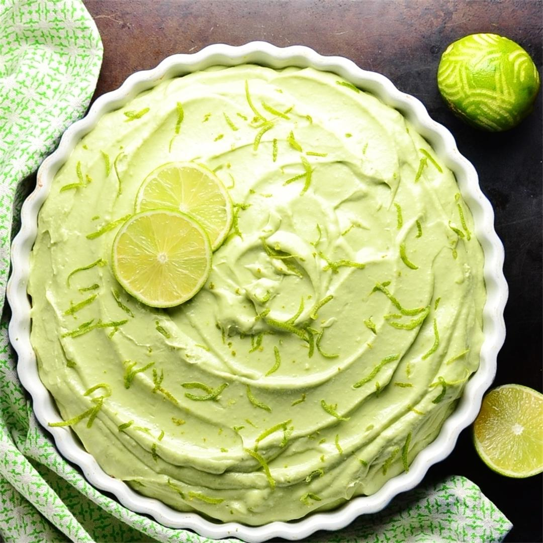 Key Lime Cheesecake Pie with Avocado
