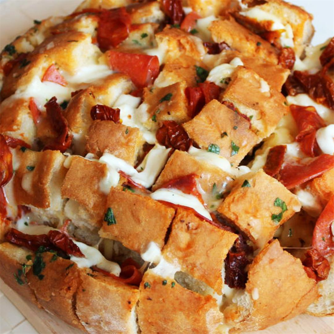 Pull Apart Pizza Stuffed Bread