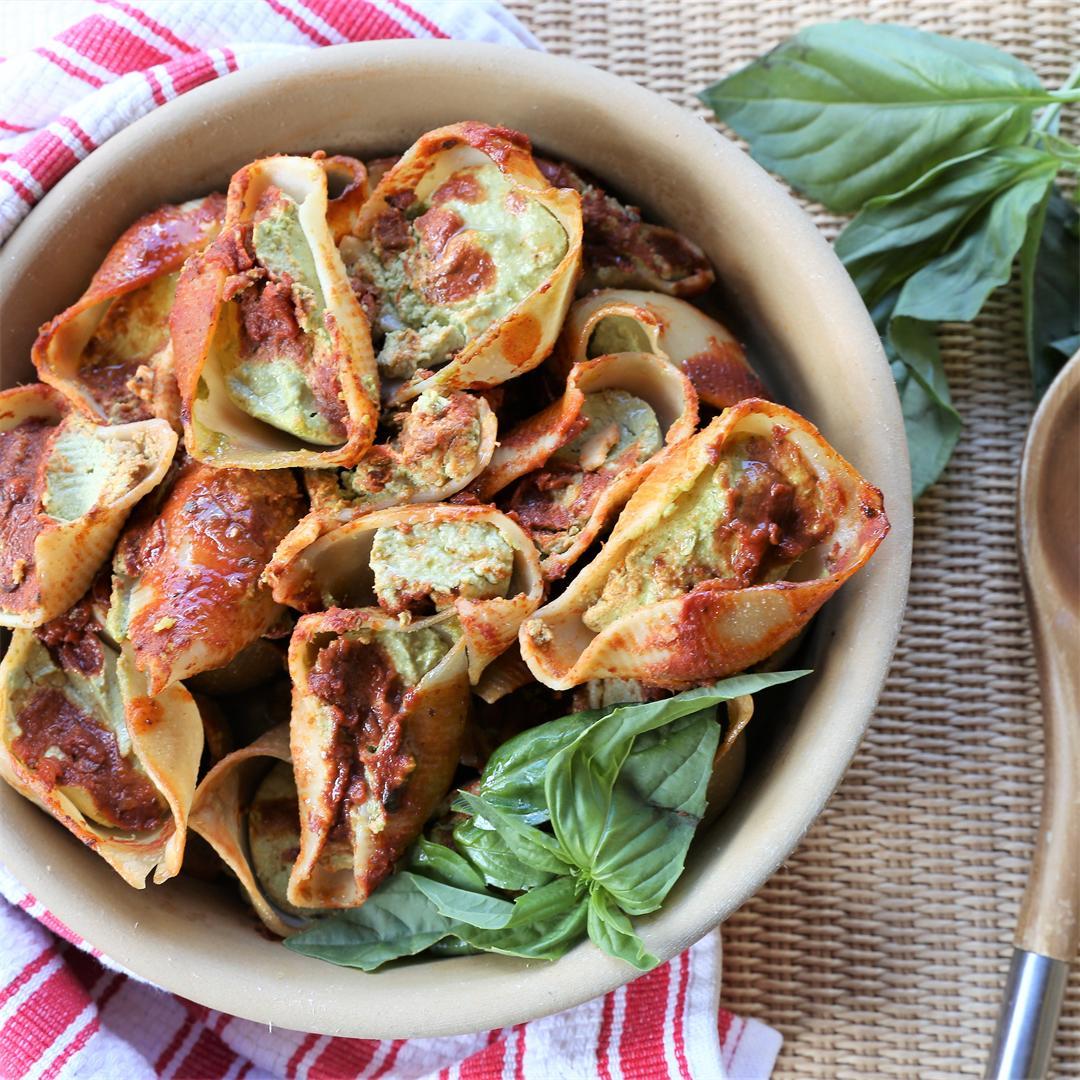 Spinach Garlic Stuffed Shells