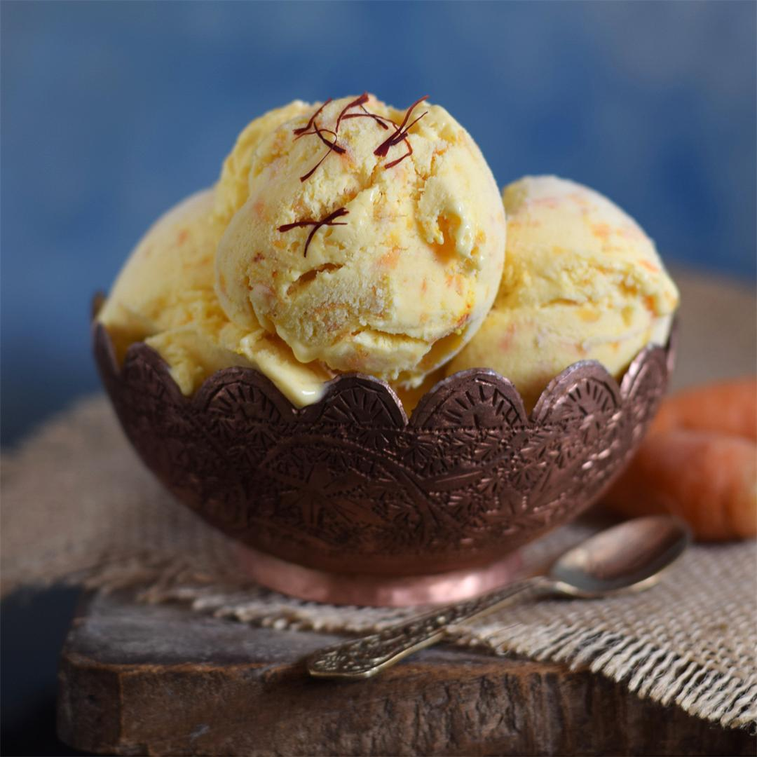 Carrot Kesar Ice Cream