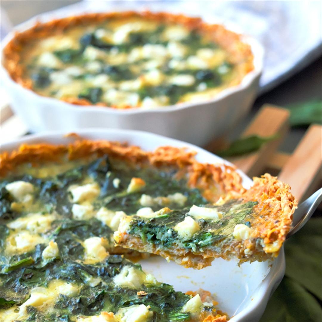 Spinach quiche – Easter brunch – Sweet potato recipes