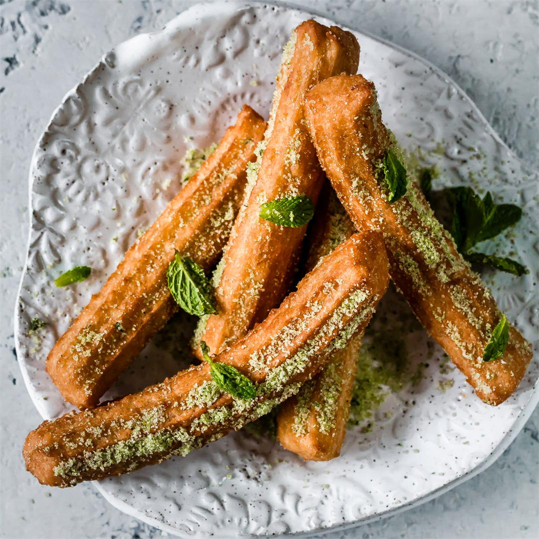 Matcha Mint Churros
