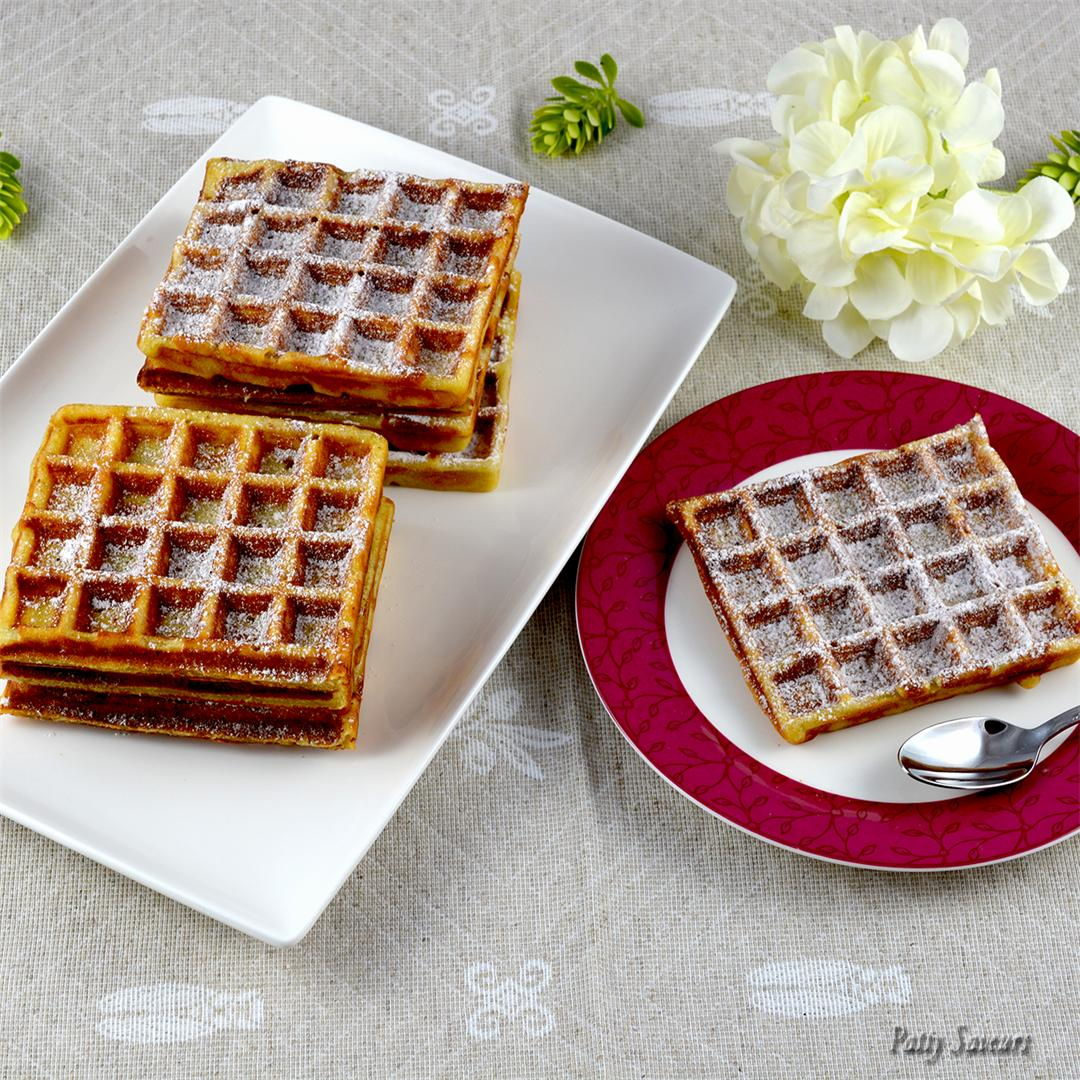Potato waffles sweet recipe, delicious!