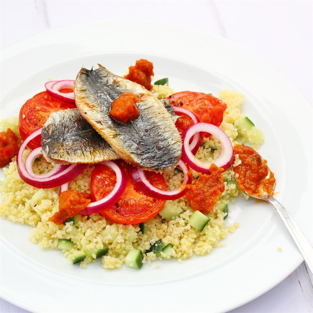 Couscous Sardine Salad