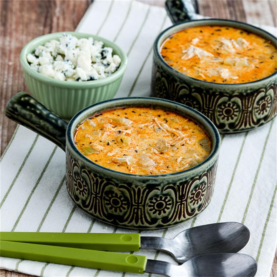 Instant Pot Low-Carb Buffalo Chicken Soup
