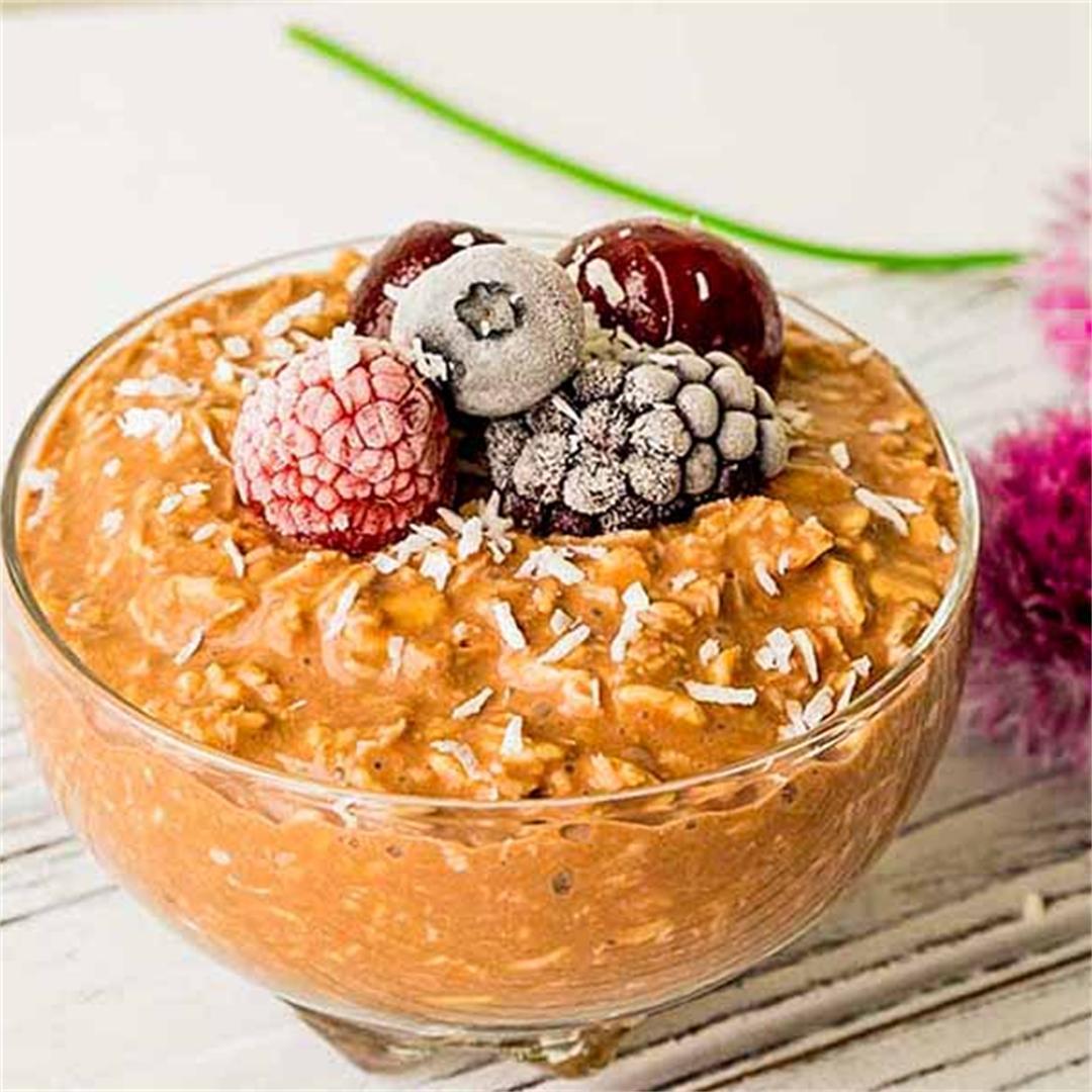 Overnight Chocolate Coconut Oat Pudding