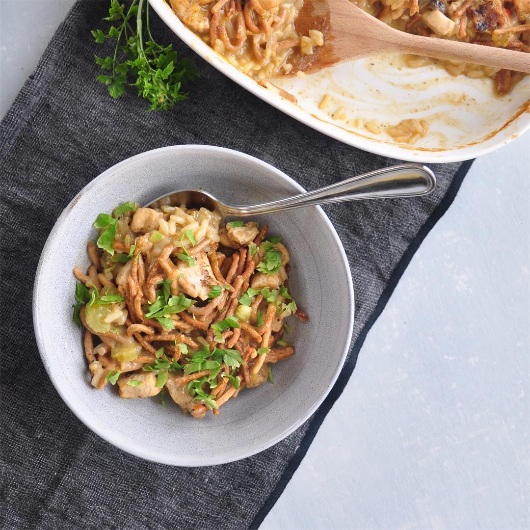 Chicken Chow Mein Hotdish Recipe