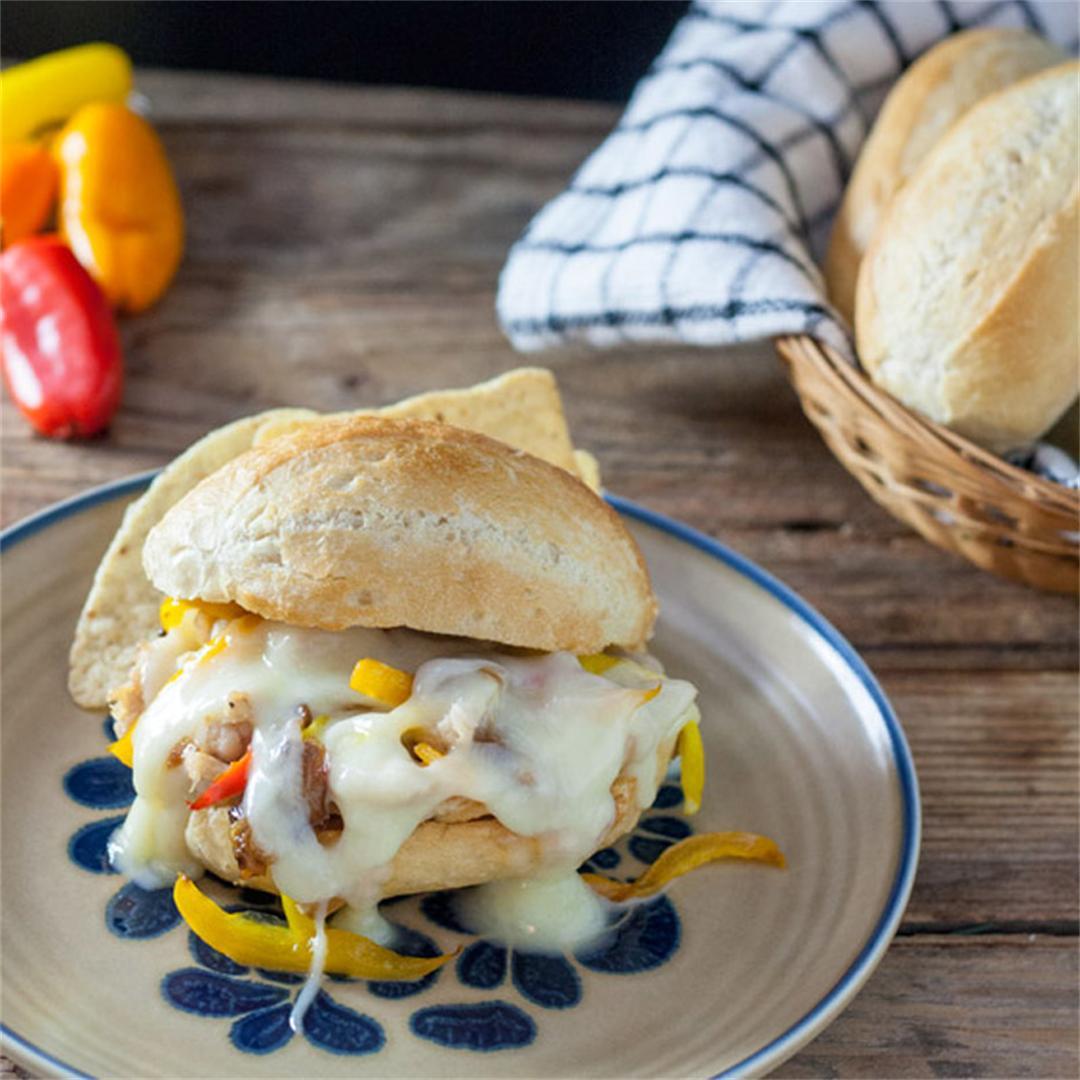 Chicken Philly Cheesesteak Sandwich