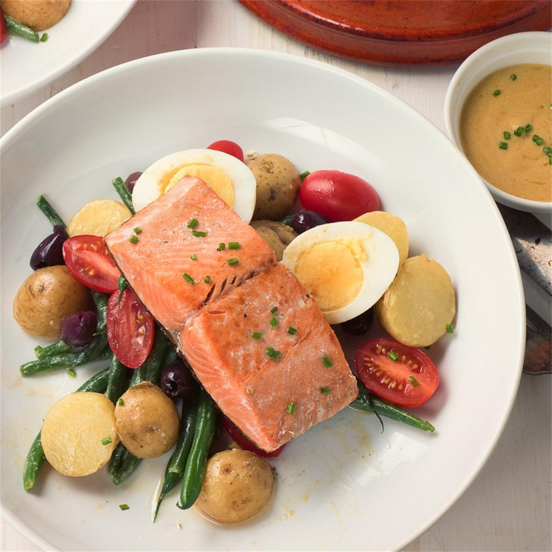Salmon Salad Nicoise with Dijon Vinaigrette