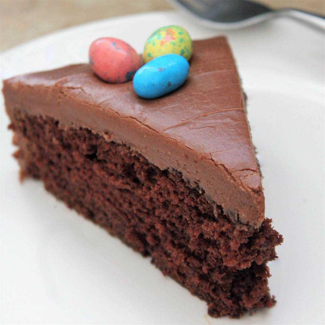 Wellesley Fudge Cake - fudgy icing, deep rich cake