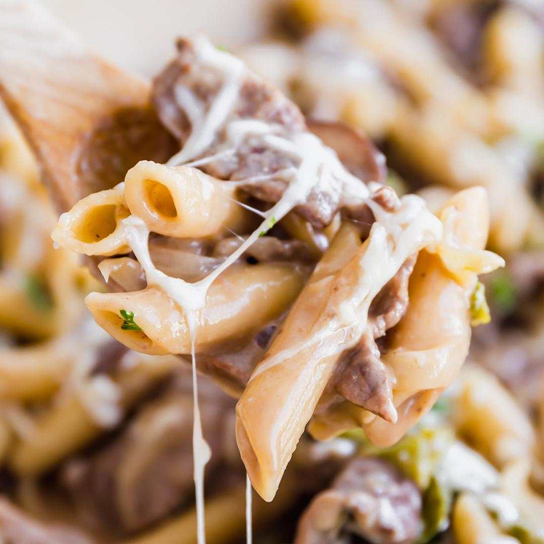 One Pot Philly Steak Pasta Recipe
