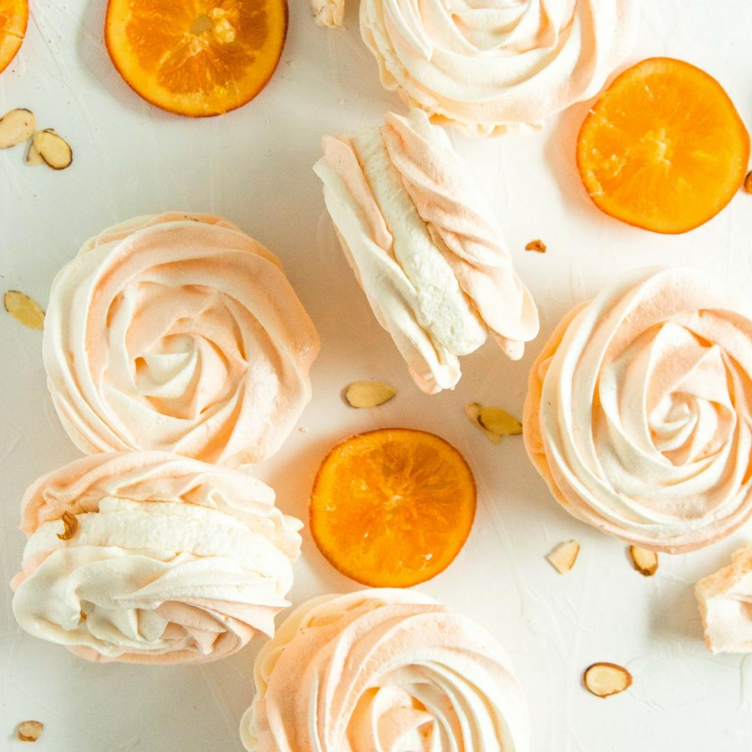 Almond Orange Meringue Tarts