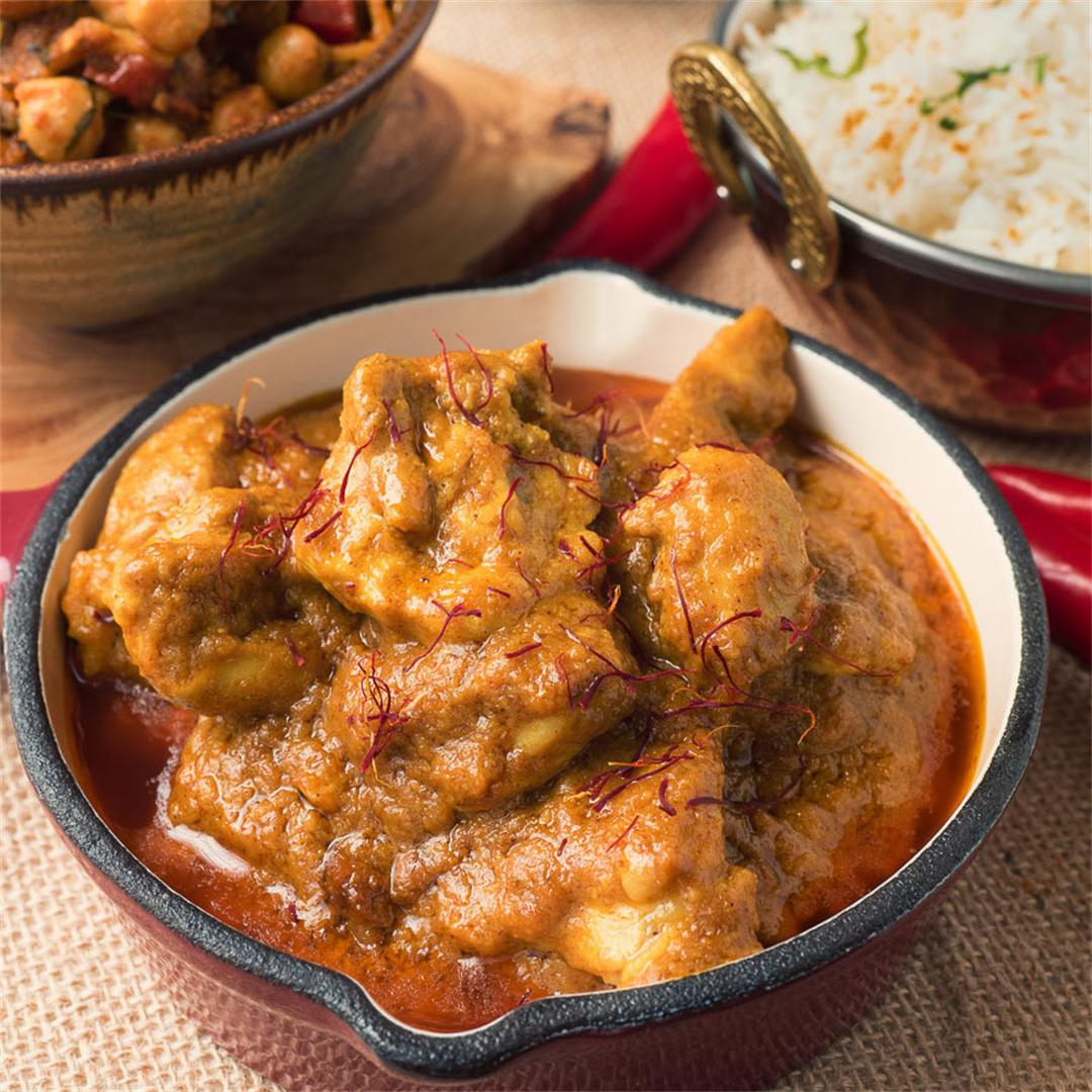 Indian Restaurant Style Shahi Chicken Korma