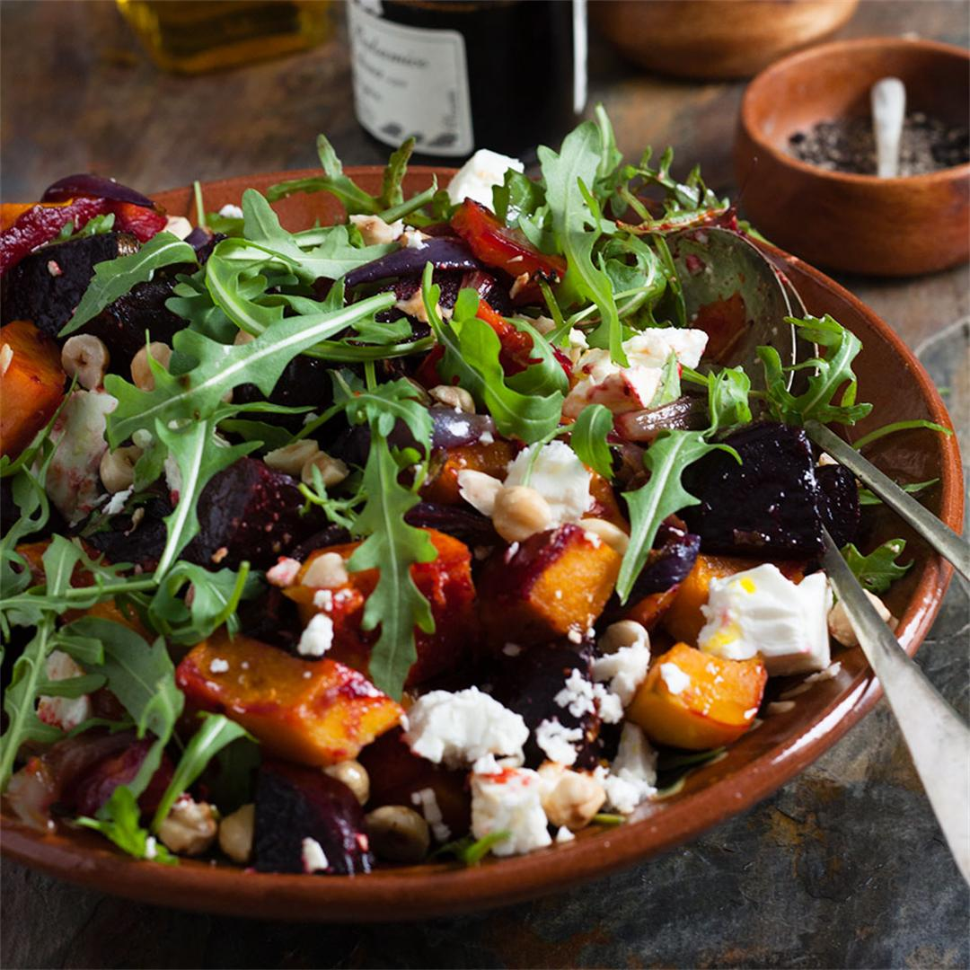 Beetroot, Squash and feta salad
