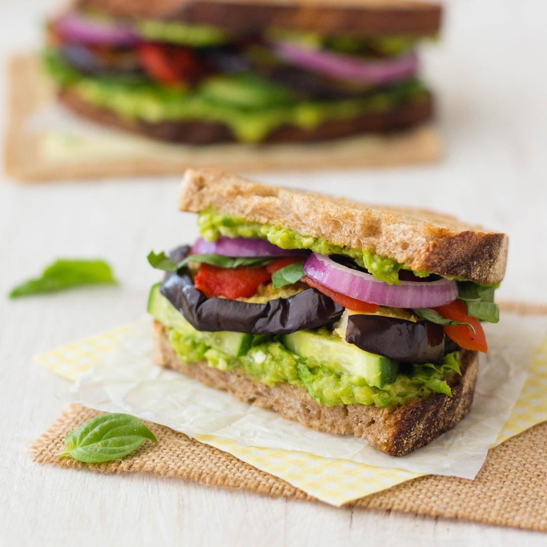 Broiled Eggplant Sandwich