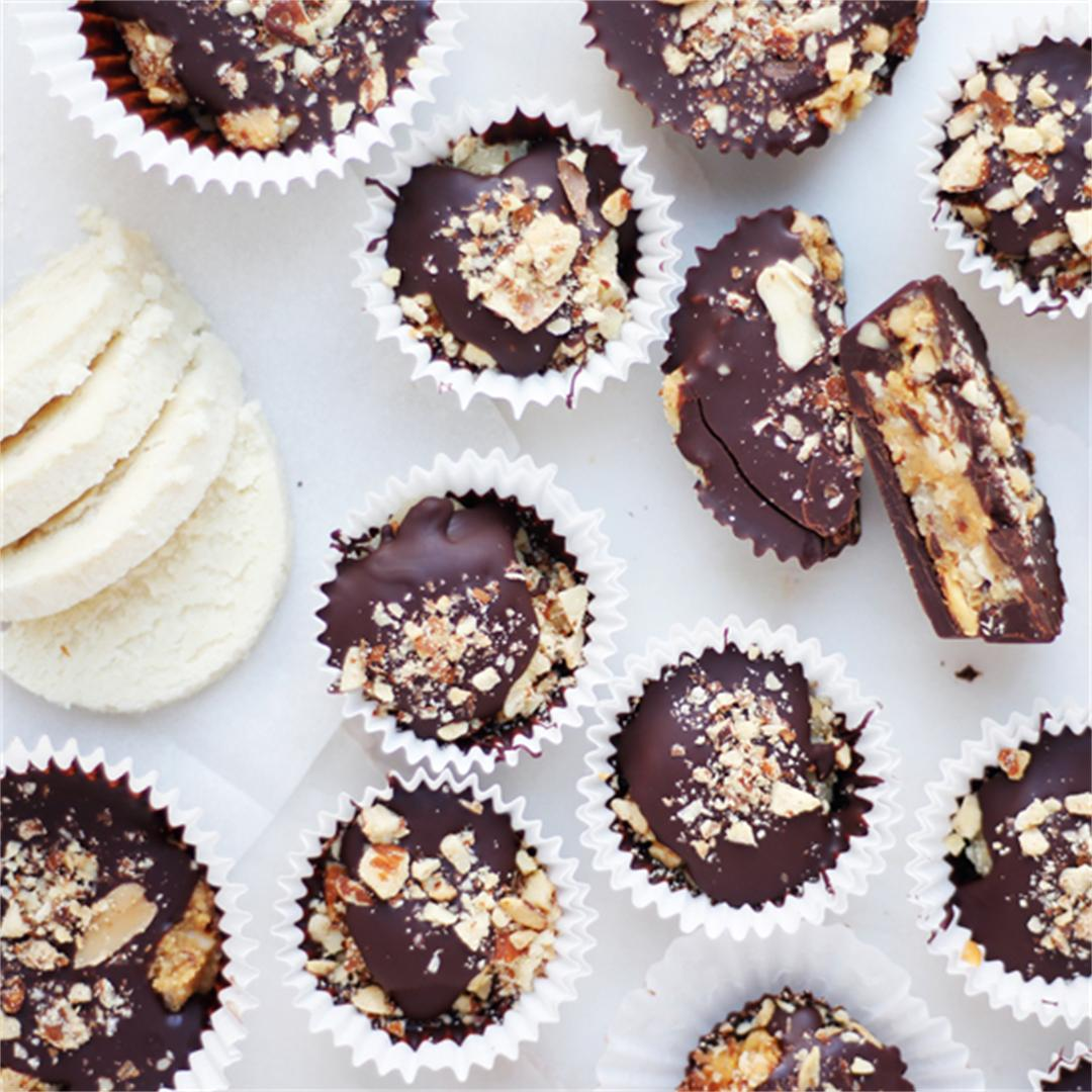 Chocolate Vegan Marzipan (almond paste) Cups