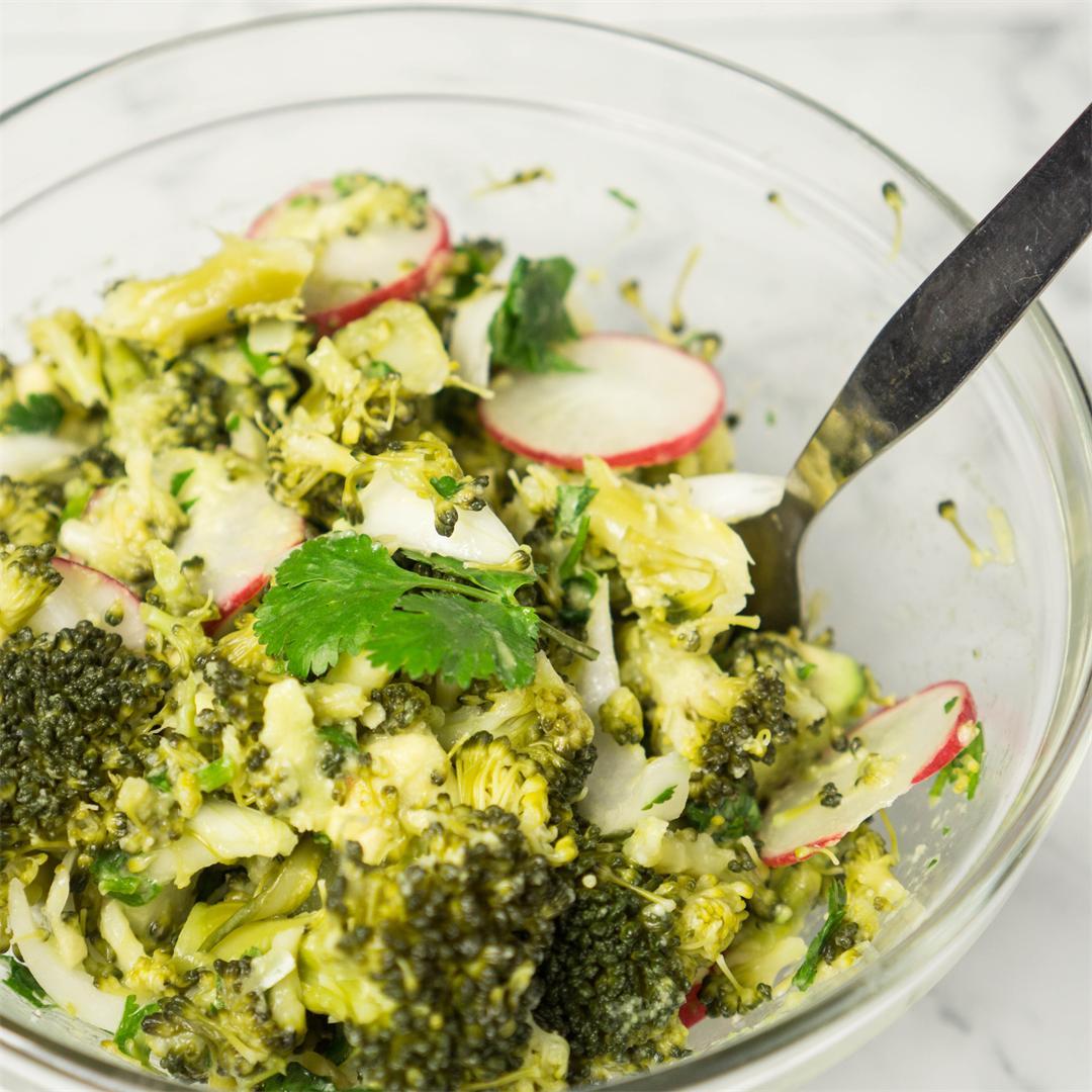 Creamy Broccoli and Avocado Salad