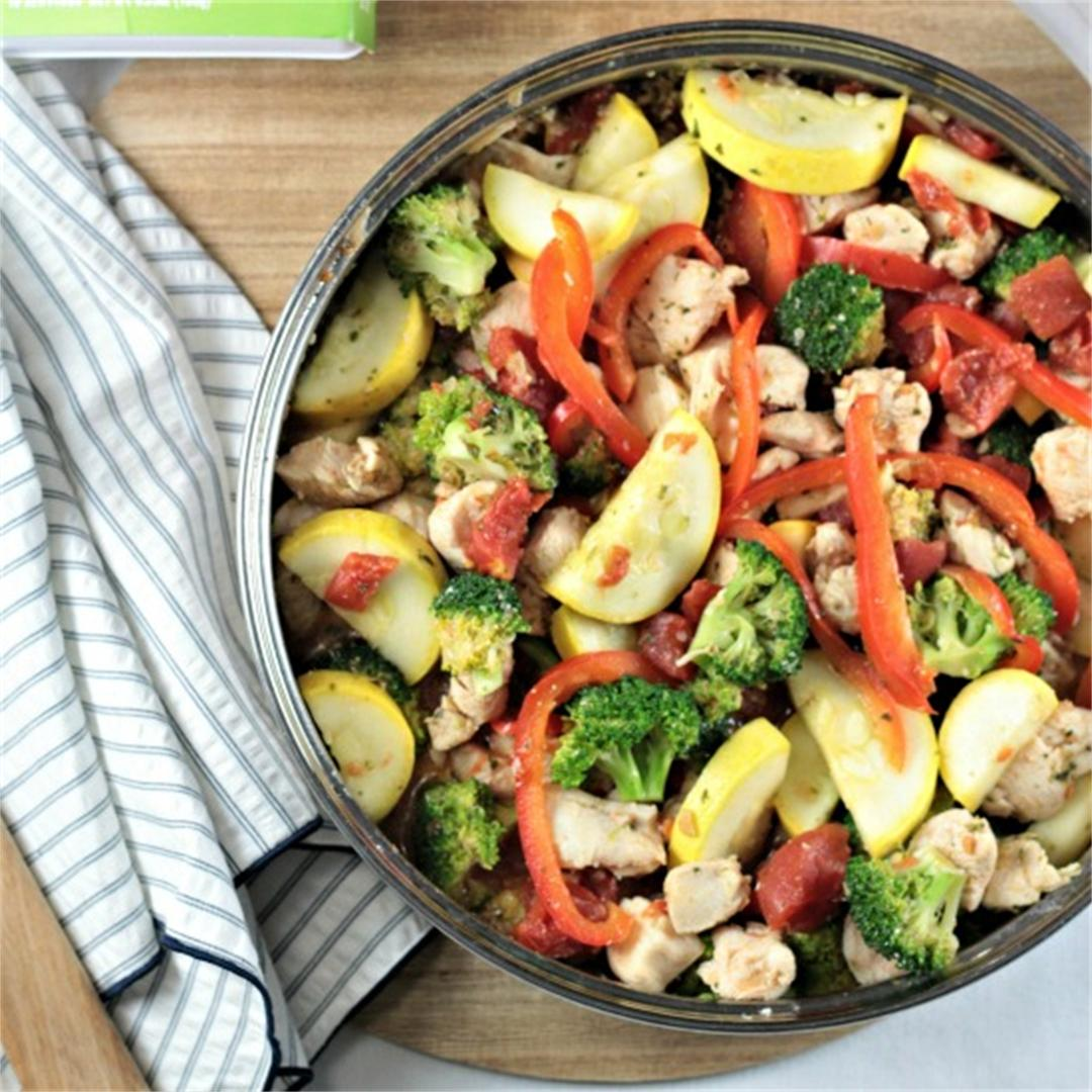 Basil Chicken and Vegetables