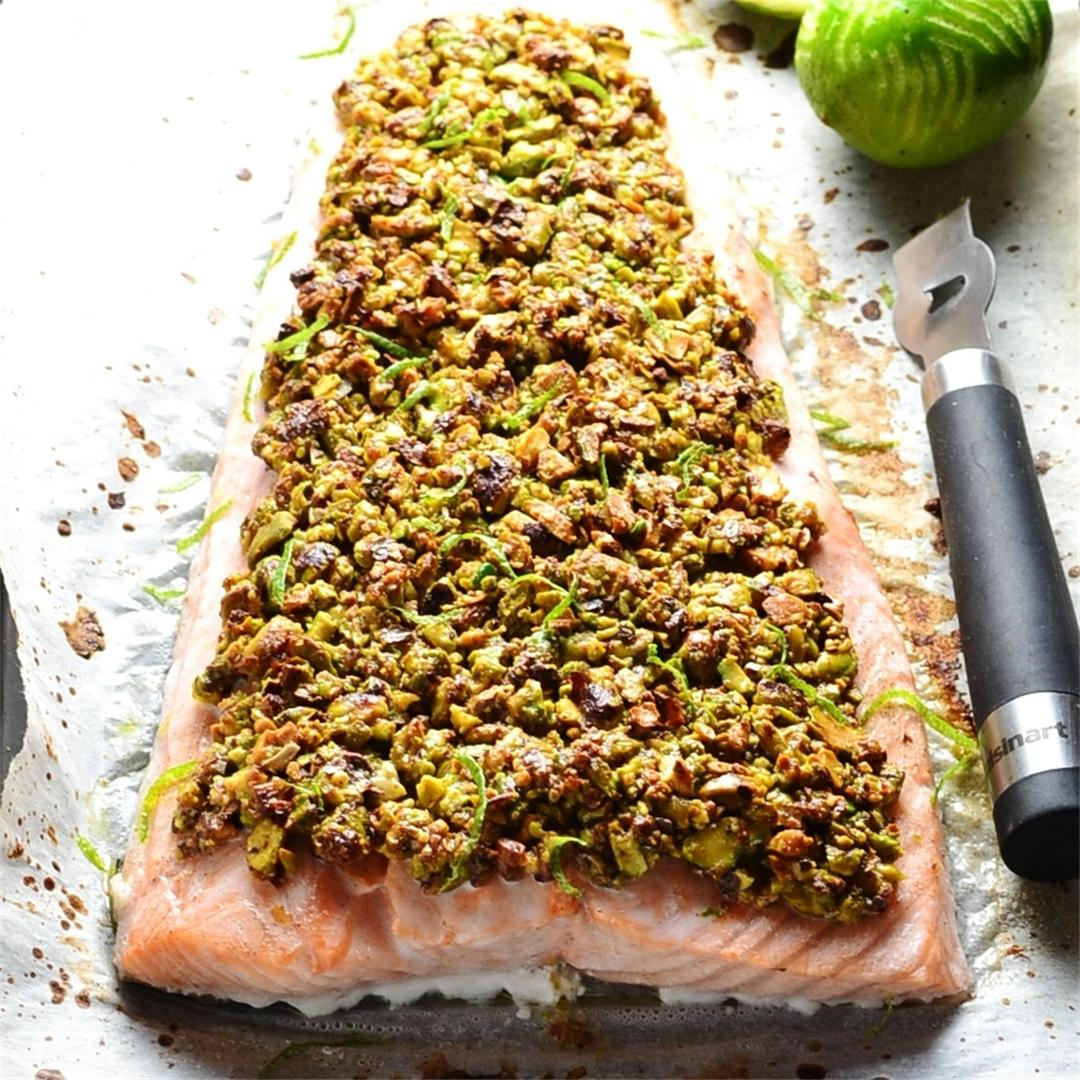 Lime & Pistachio Crusted Salmon Recipe