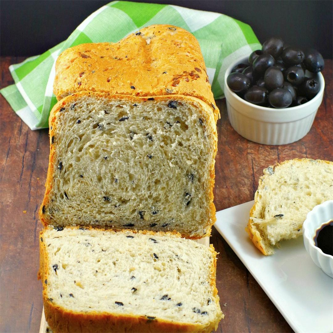 Bread Machine Onion & Olive Bread