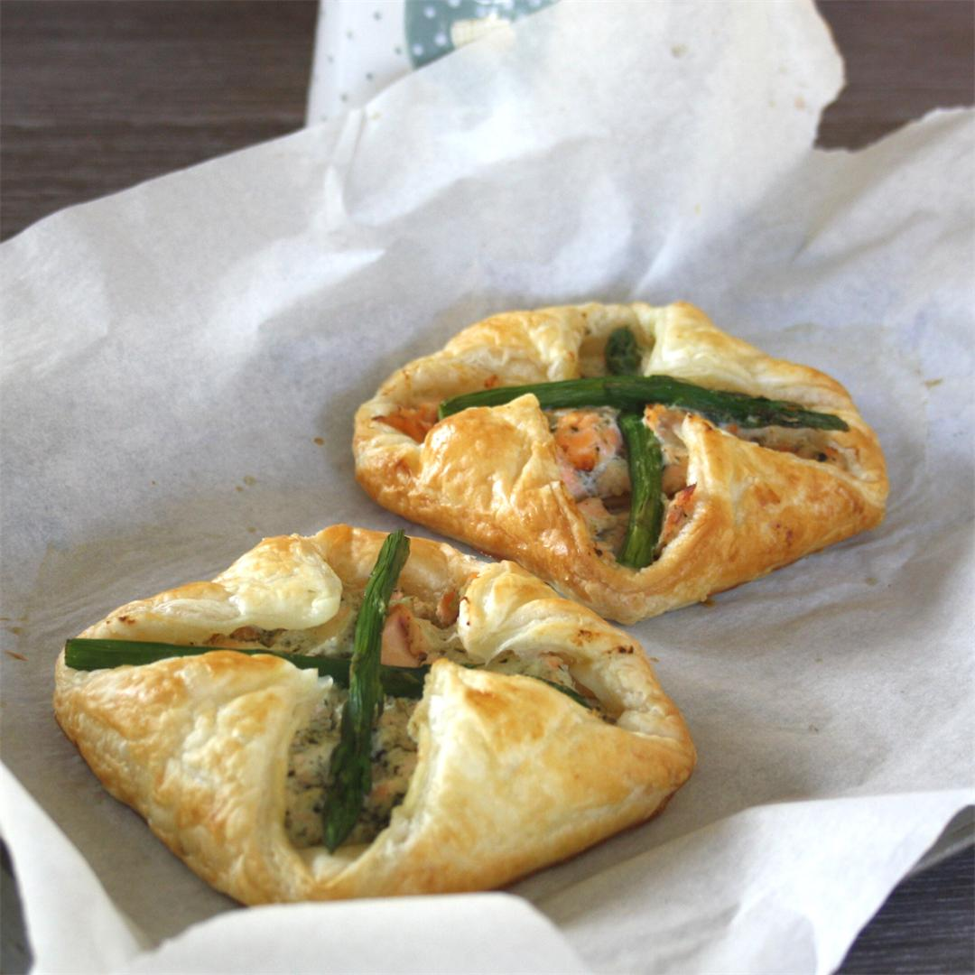 Salmon and Asparagus Puff Pastry Parcels