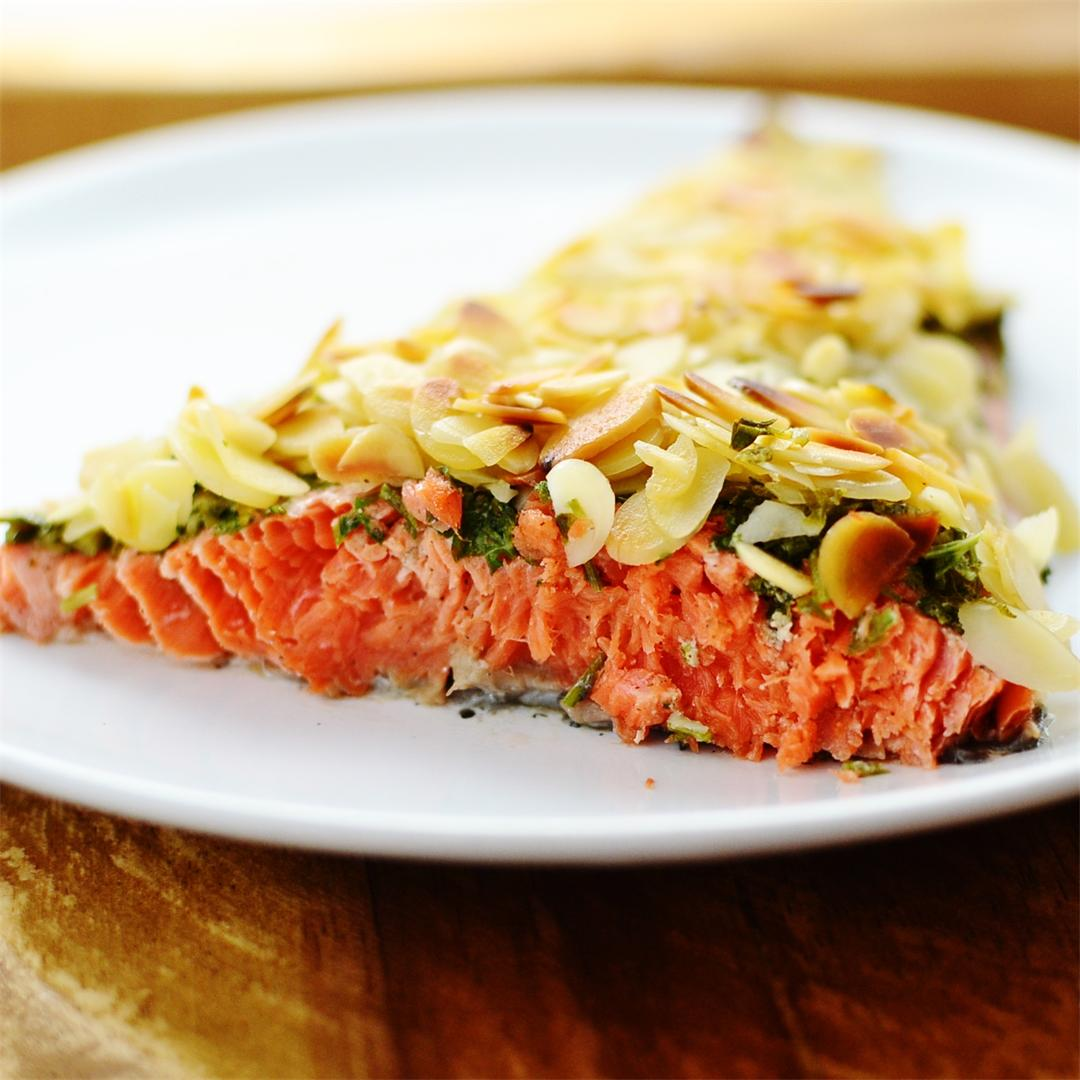 Lemon, Parsley & Almond Crusted Salmon