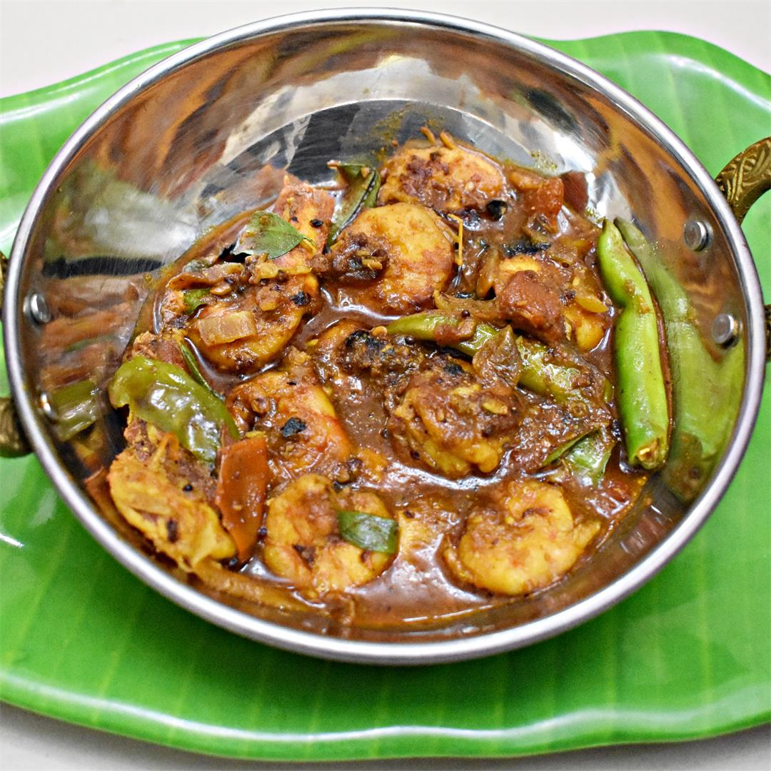 Chingri Bahar - A prawn curry with Tamarind
