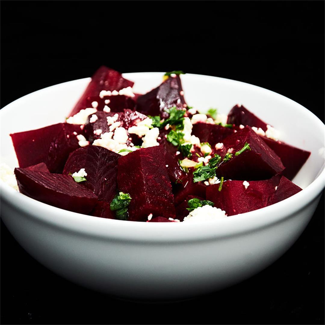 Beet Salad With Feta Cheese and Citrus Vinaigrette