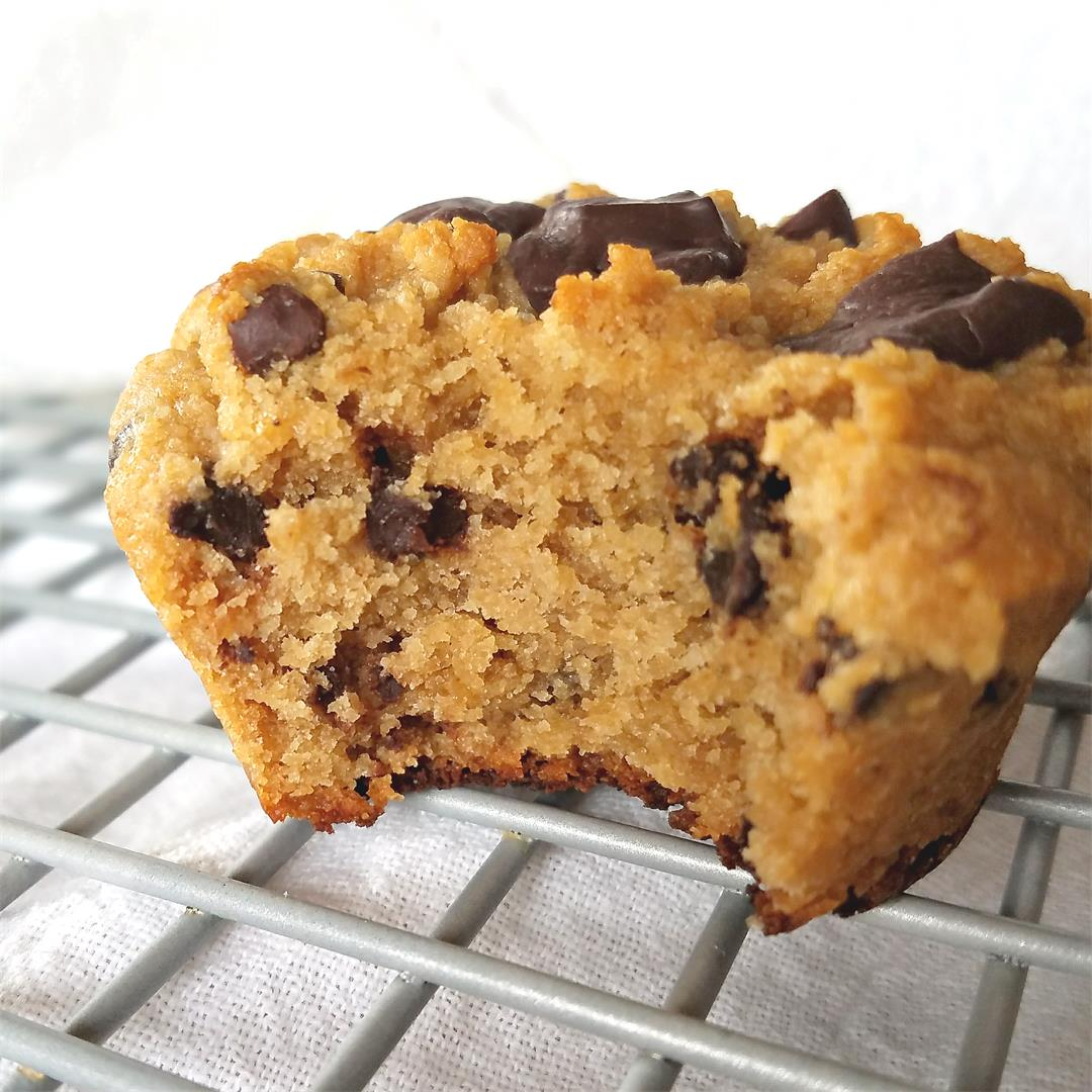 Healthy Chocolate Chip Muffins - Grain-free & Vegan