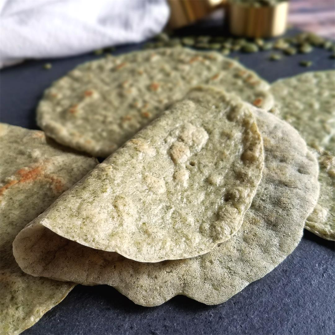 Easy Pumpkin Seed (Pepita) Tortillas - Nut-free, Vegan, Paleo