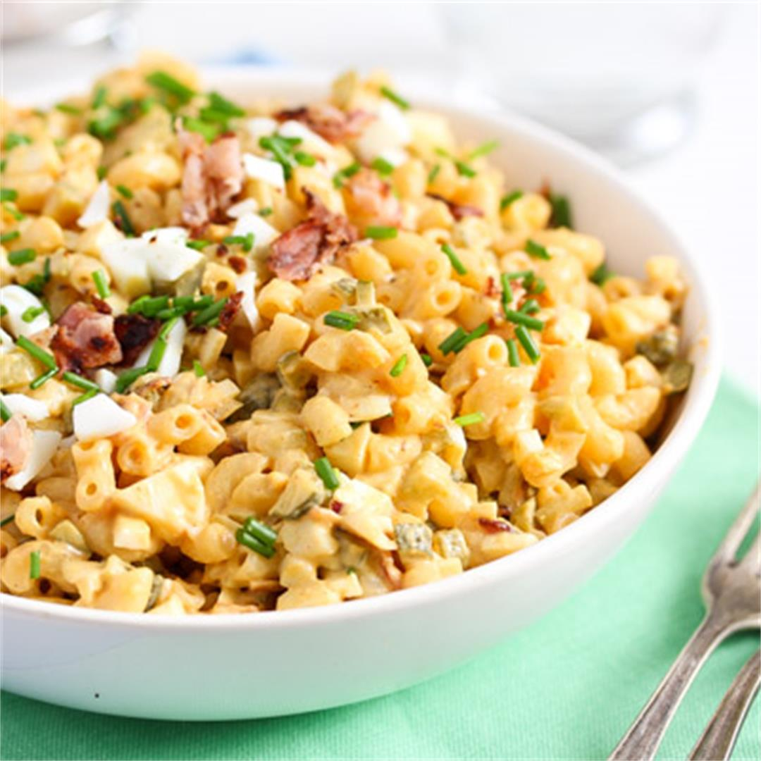 Creamy Deviled Egg Pasta Salad with Bacon – Eggs Recipes