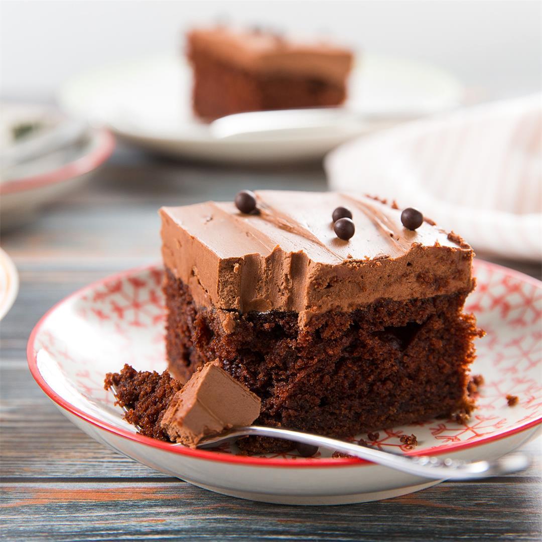 Chocolatey Chocolate Sheet Cake