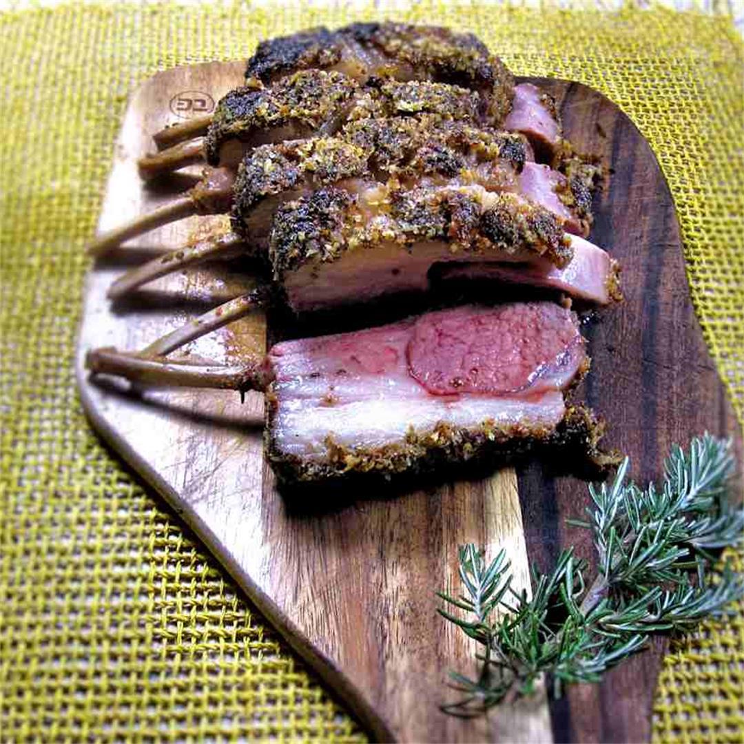 Rack of lamb in Parmesan crust