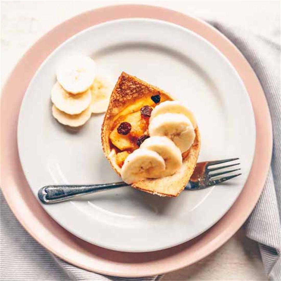 Apple pie tortilla dessert cups