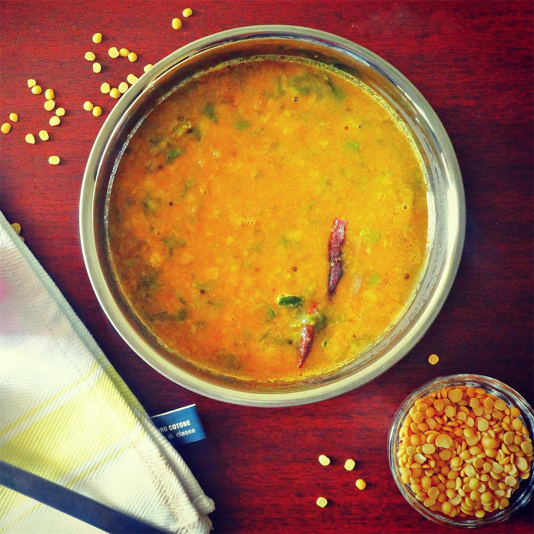Keerai Sambar | Spinach Lentil Curry Recipe