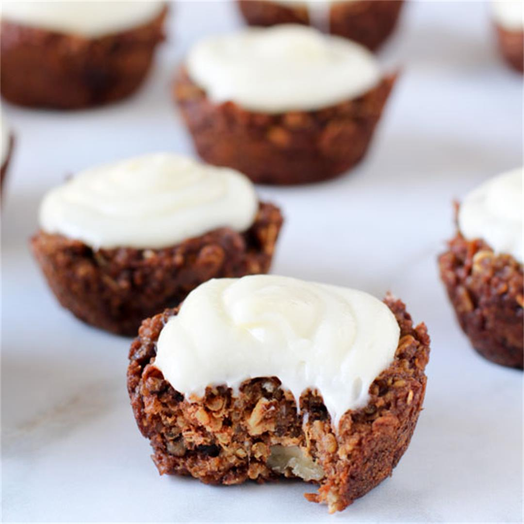 Healthy Carrot Cake Quinoa Muffins