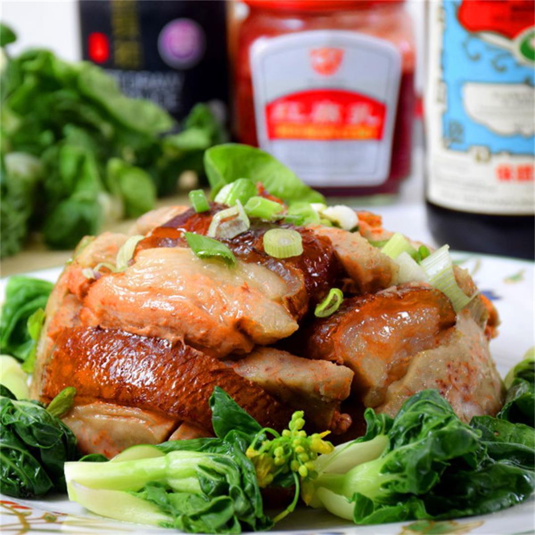 Braised Pork Belly with Taro