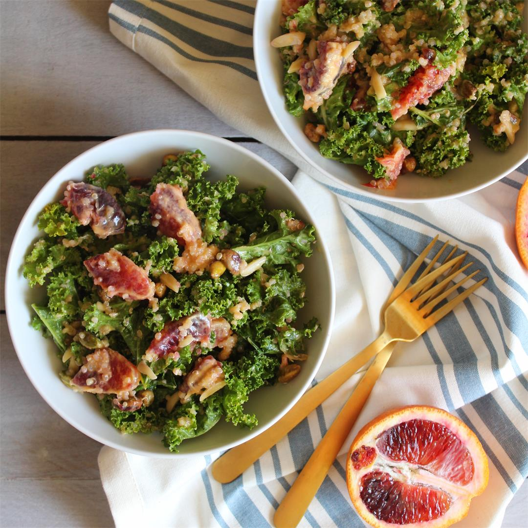 Kale, Quinoa, & Blood Orange Salad w/Orange Vinaigrette
