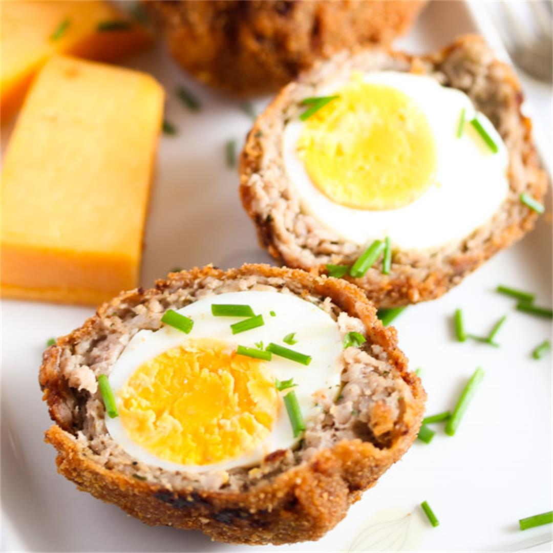 Classic Scotch Eggs Recipe – Fried, with Sausage and Herbs