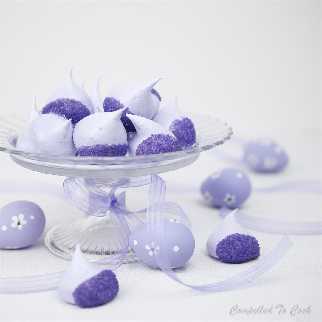 Lavender White Chocolate Meringues