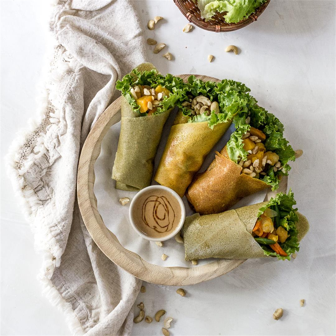Fresh Lumpia with Cashew Date Sauce