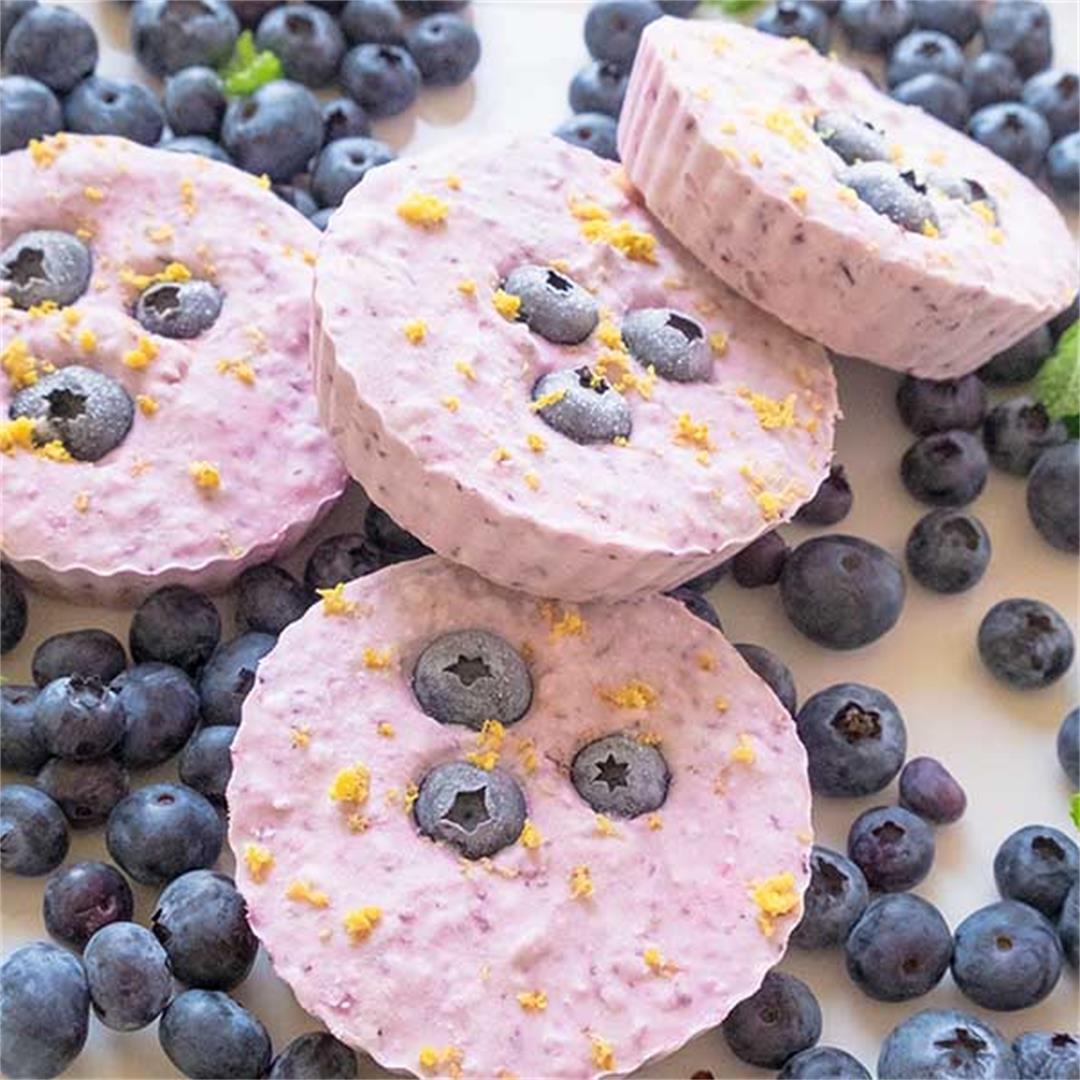 Keto Minnie Blueberry Cheesecakes