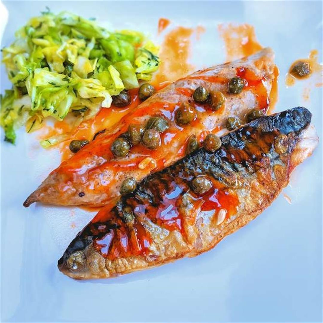 Sticky mackerel fillets