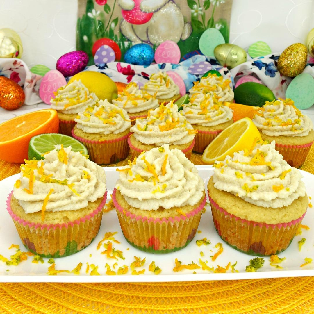 Triple Citrus Paleo Cupcakes with Coconut Citrus Frosting